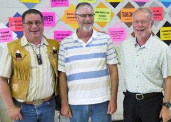 Jim Munroe, President Maiyoo Keyoh, Professor John Nelson UBC Forestry, Professor Gary Bull UBC Forestry