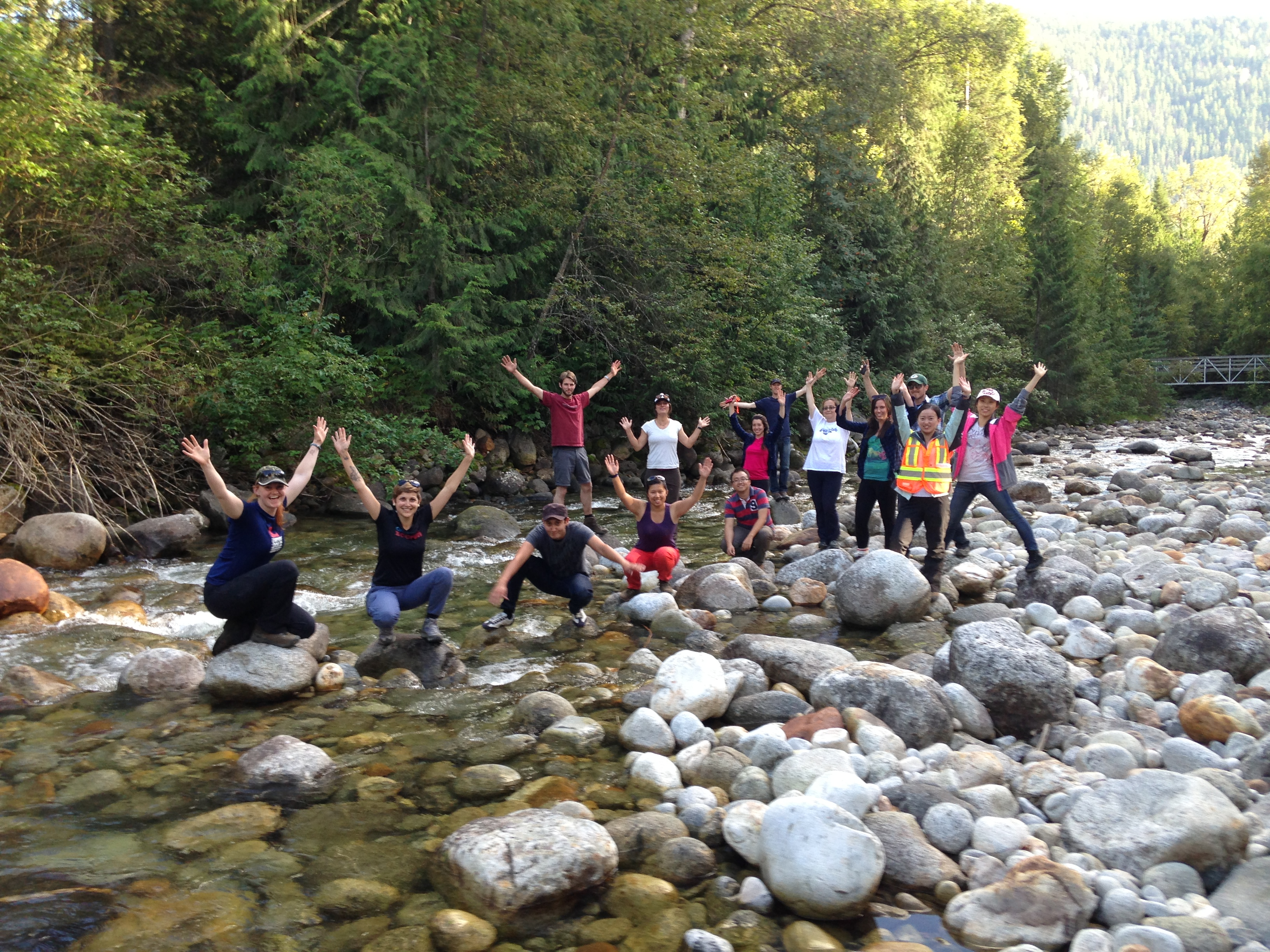 MSFM students on a field trip in the West Kootenays, BC
